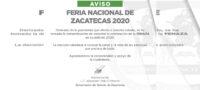 Cancelan la Feria Nacional de Zacatecas en su edición 2020