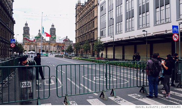 No habrá público en el Zócalo de la CDMX para dar el Grito de Independencia, pero sí más de 2 mil policías