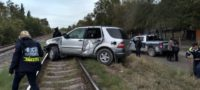 Tren se lleva de encuentro a camioneta; conductor vive para contarlo y se da a la fuga en Piedras Negras