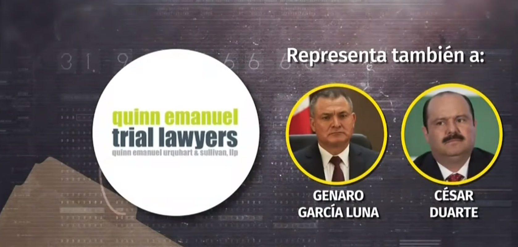 Abogados de García Luna y César Duarte representarán a Salvador Cienfuegos