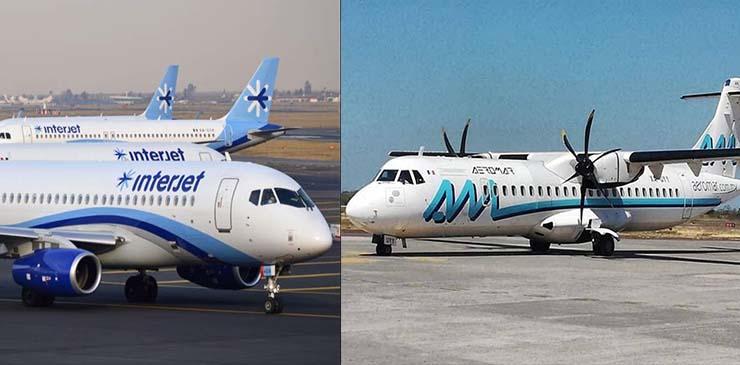 Ante Covid-19, Aeromar e Interjet incrementó su deuda a más de 397 mmdp por uso de espacio aéreo