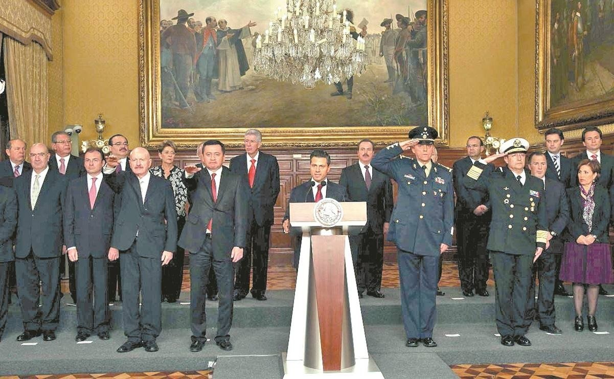Suman 11 exfuncionarios del gabinete de Peña Nieto con procesos penales o señalamientos