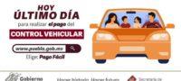 Termina prórroga, reanudarán pago de control vehicular en Puebla