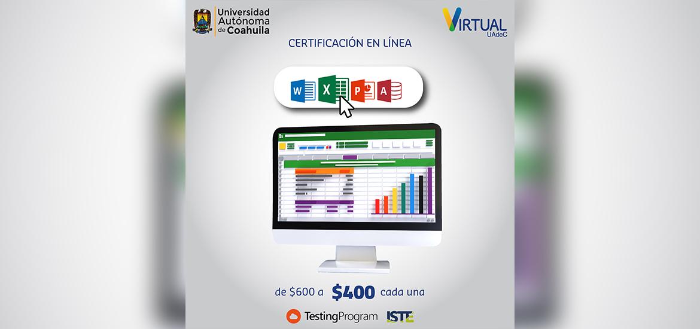 Convoca UAdeC a Certificarse Internacionalmente en Microsoft Office