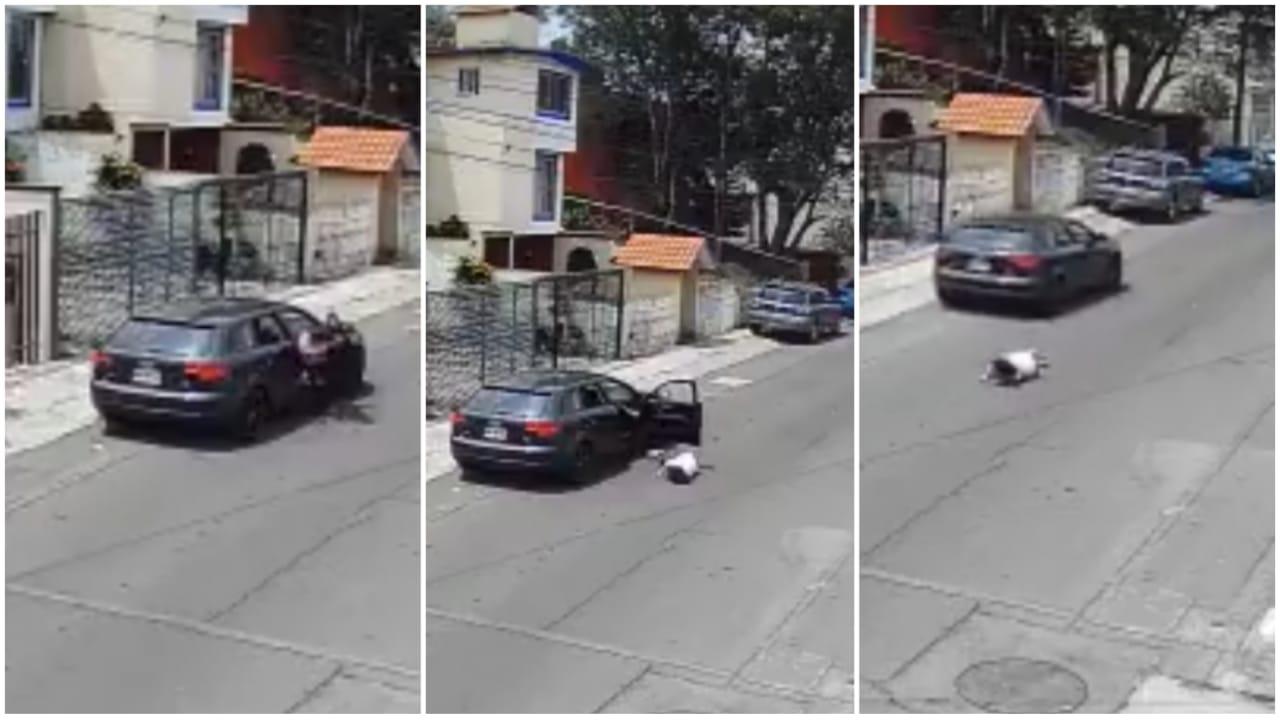 Hombre agredió a su novia en una escena de celos; la lanzó de su auto