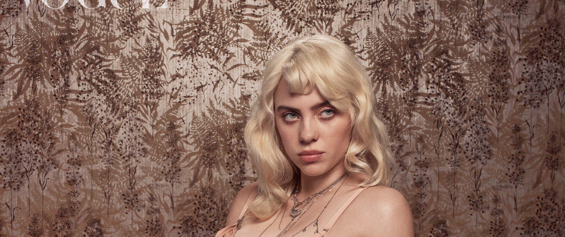 Adiós ropa holgada; Billie Eilish protagoniza portada de Vogue con un radical cambio de imagen