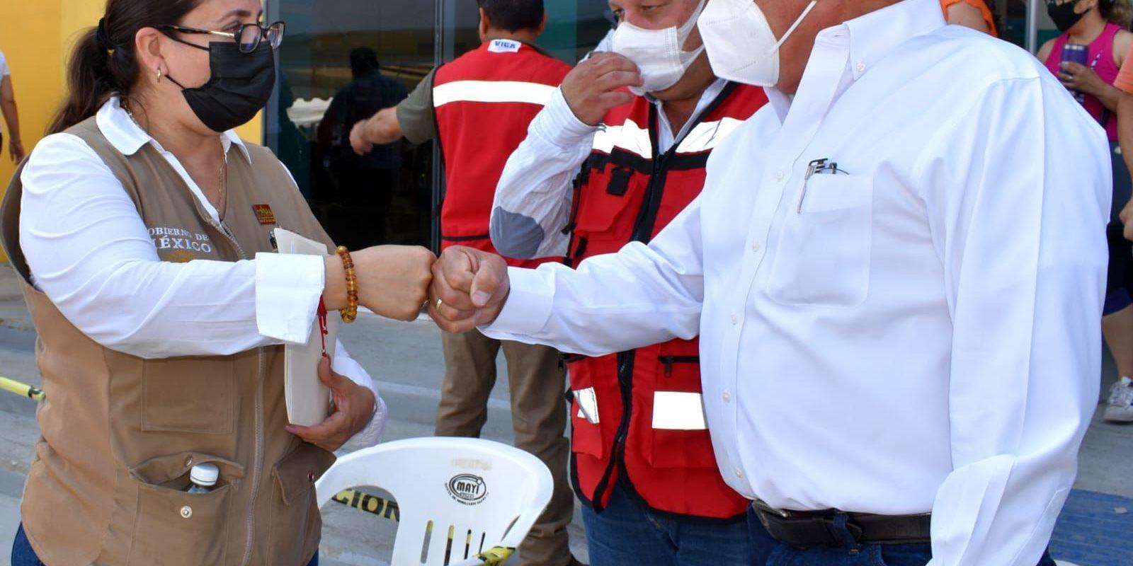 Trabajan en sinergia Ayuntamiento de Frontera y Servidores de la Nación para vacunación Anticovid