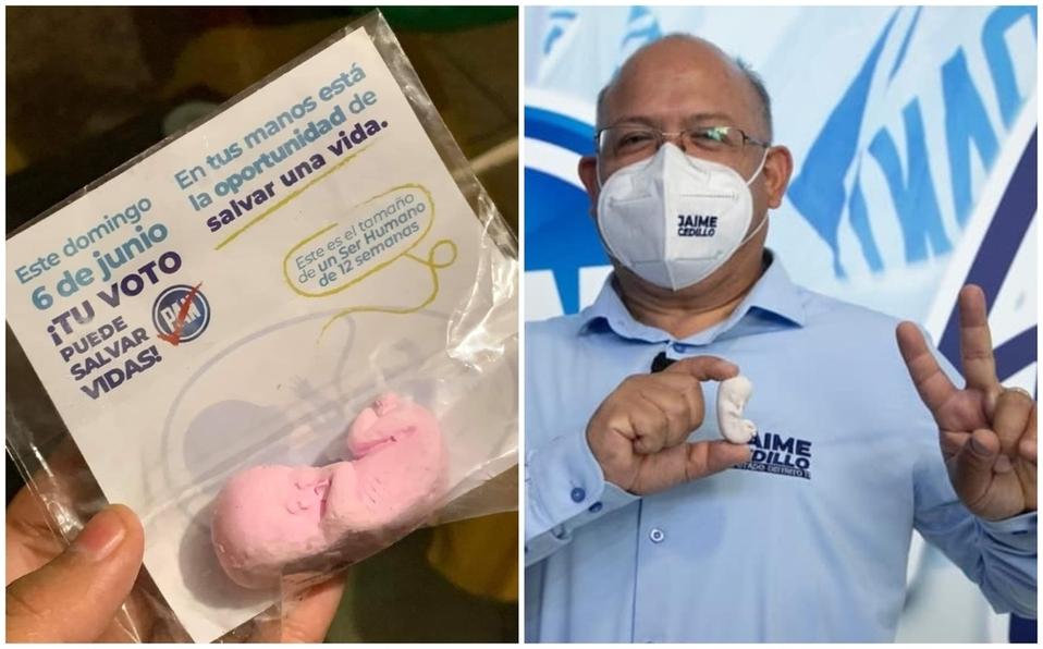 Candidato del PAN regala figuras de fetos para su campaña pro vida; tu voto puede salvar vidas, declaró