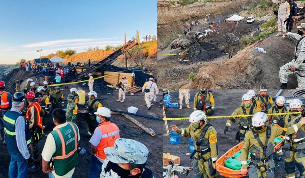 Suman 3 cuerpos rescatados en mina de Múzquiz; quedan 4 trabajadores atrapados