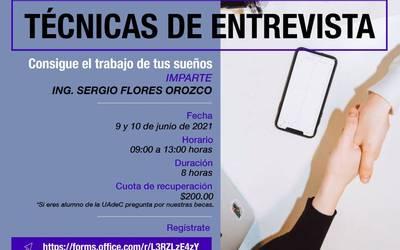 """Fortalece tus Habilidades Profesionales en el Taller """"Técnicas de Entrevista"""""""
