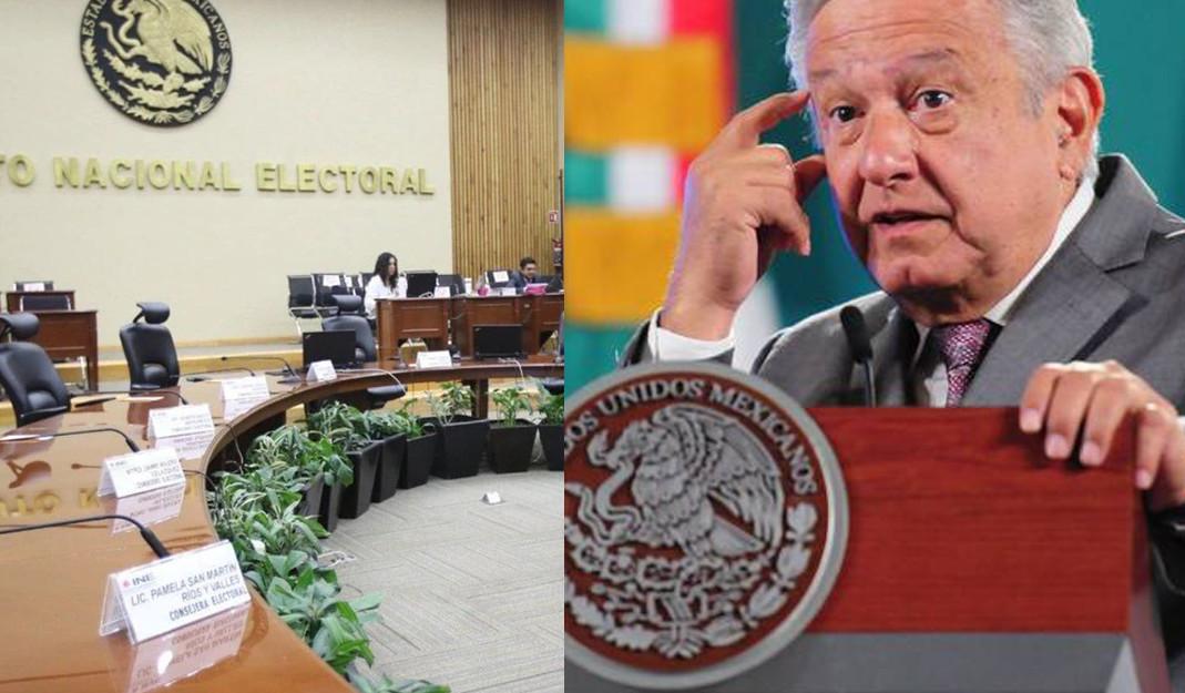 AMLO arremete contra el INE; los acusó de no ser imparciales en las elecciones 2021