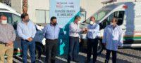 Recibe Sección 38 dos ambulancias en Torreón