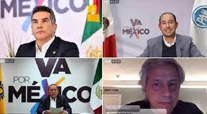 No competimos contra un partido, competimos contra un presidente: Va por México