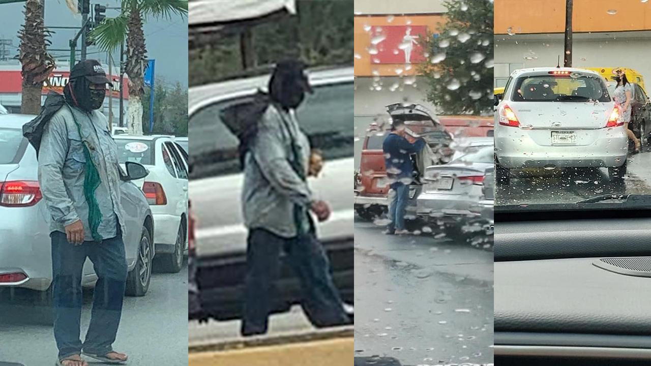 Exponen a supuesto indigente en Monterrey; pide dinero y hasta carro tiene