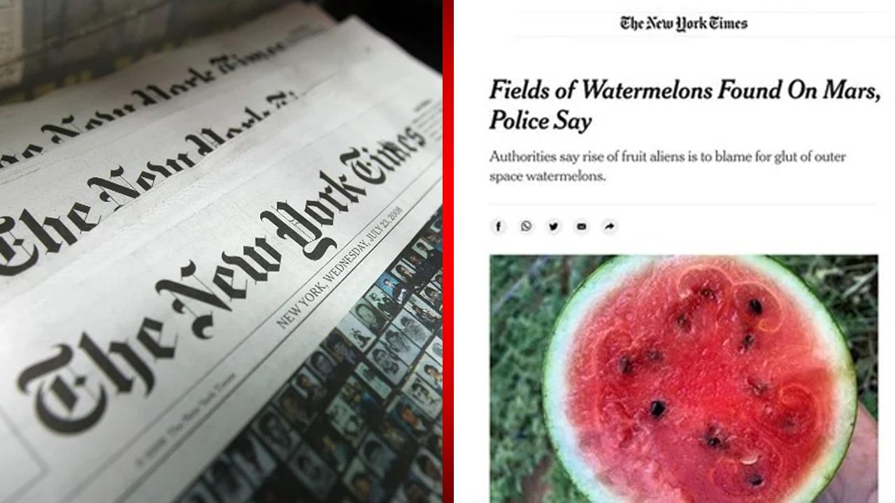 The New York Times publica 'fake news' al decir que se hallaron sandías y kiwis en Marte
