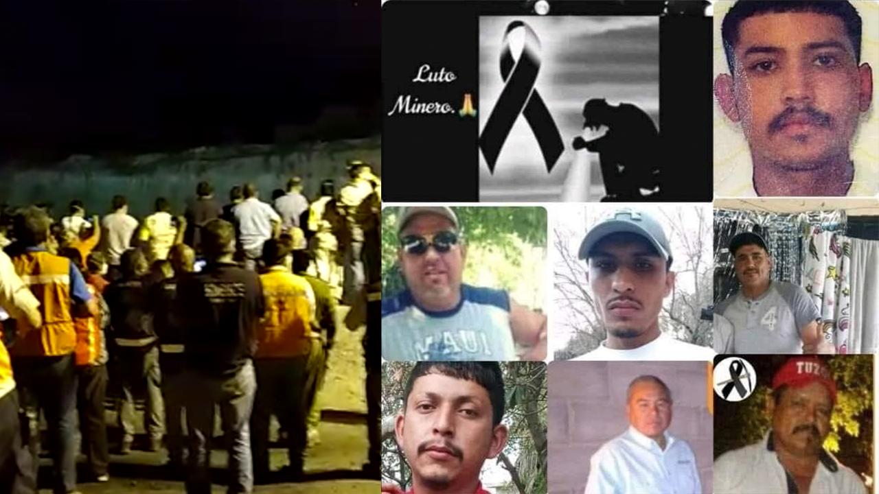 Con un minuto de silencio, despiden familiares y rescatistas a mineros de Múzquiz, Coahuila