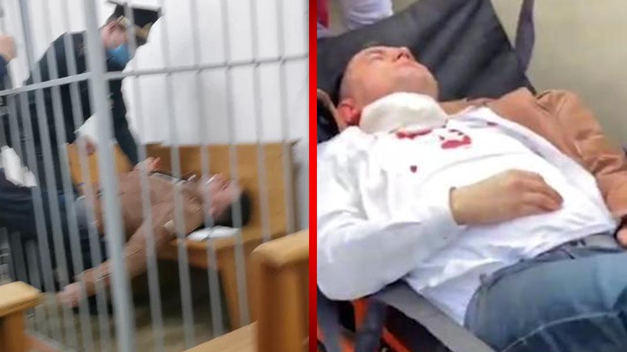 Opositor del régimen de Bielorrusia se abre la garganta en plena audiencia