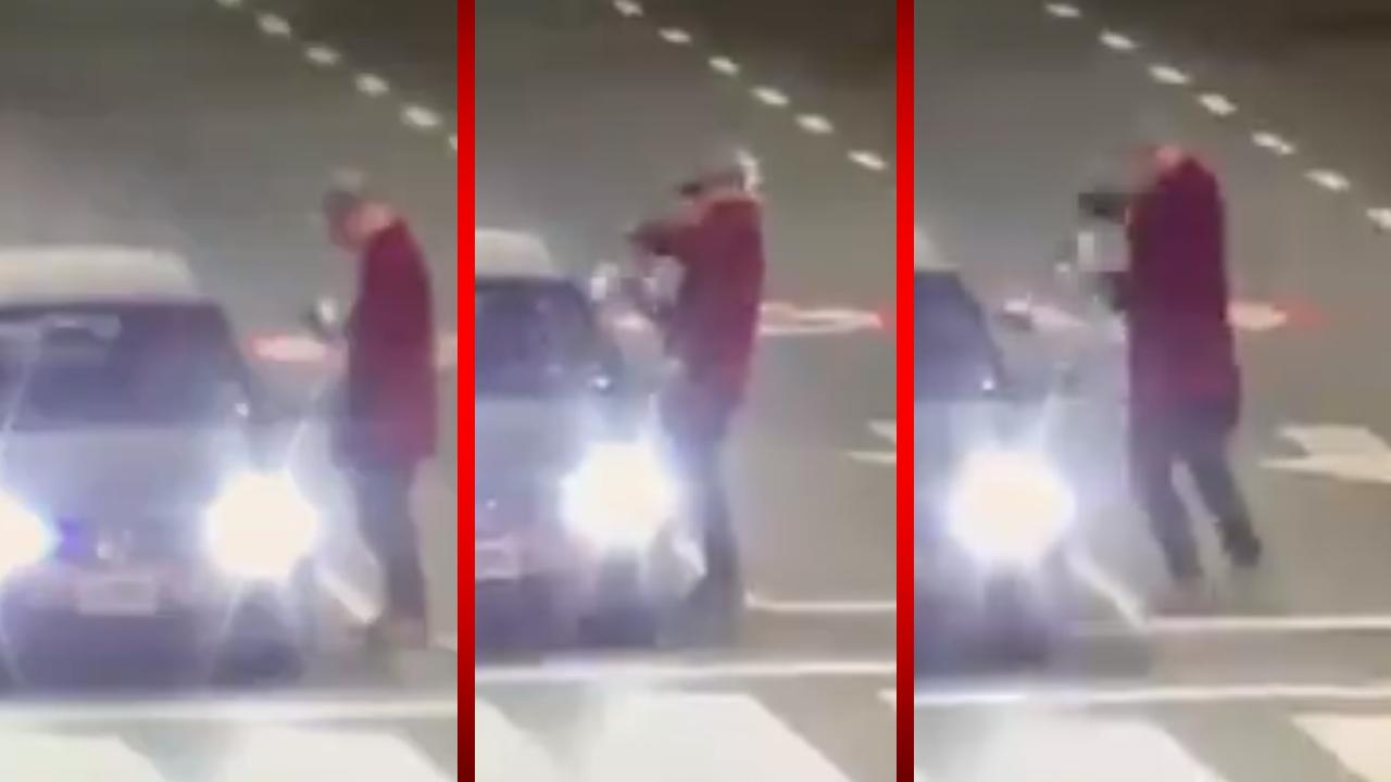Por intentar limpiarle el parabrisas, policía le dispara en la pierna; el muy cobarde huyó