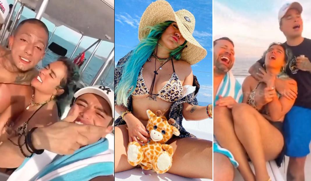 Desde las playas de México, Karol G presume sus vacaciones