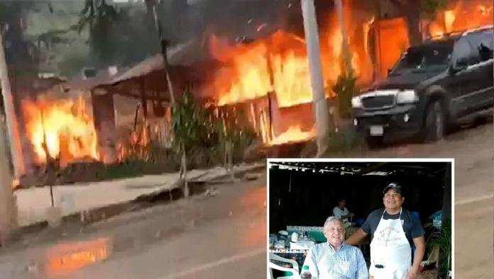 Acribillan a dueño de birria que visitó AMLO; queman restaurante