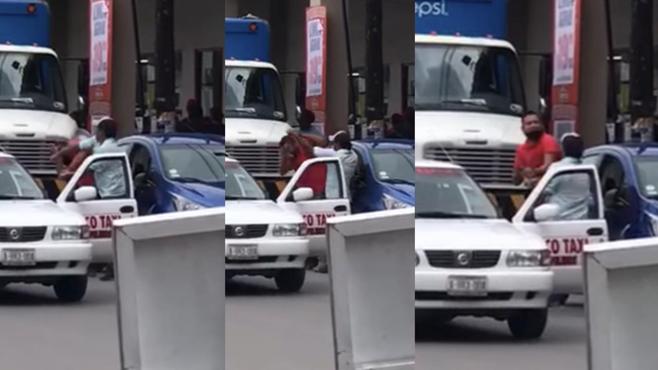 Policiaca: Taxista golpeó a chofer de InDriver en Monclova; invadió zona de taxis