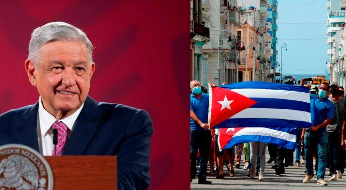 México no tomará protagonismo en conflicto de Cuba, se actuara solo para ayudar: AMLO