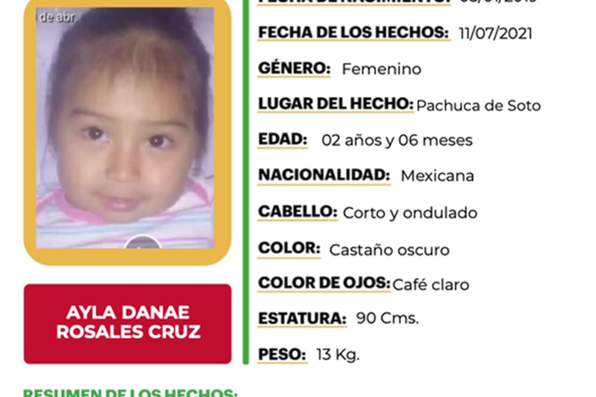 Se llevaron a Danae, de 2 años: Estaba jugando sola en el patio de su casa