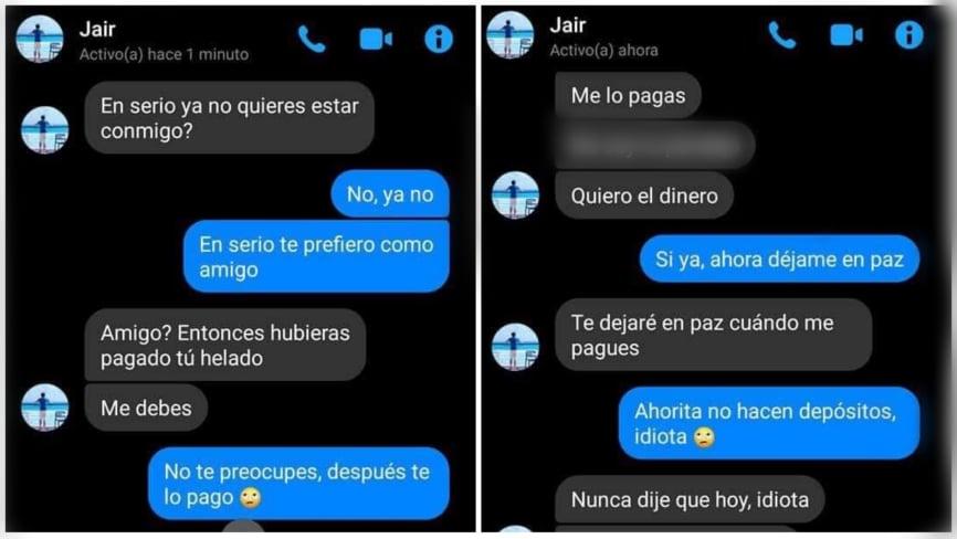 Y todavía pides el más caro: Jair le exigió 37 pesos a su cita después de caer en la 'friendzone'