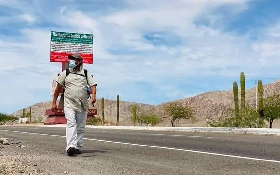 Desaparecen a José Espinoza: Recorría los estados a pie para exigir justicia por su hijo
