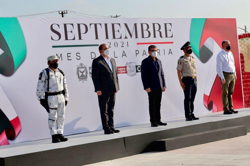 Encabeza MARS ceremonia de inicio festejos conmemorativos del mes patrio
