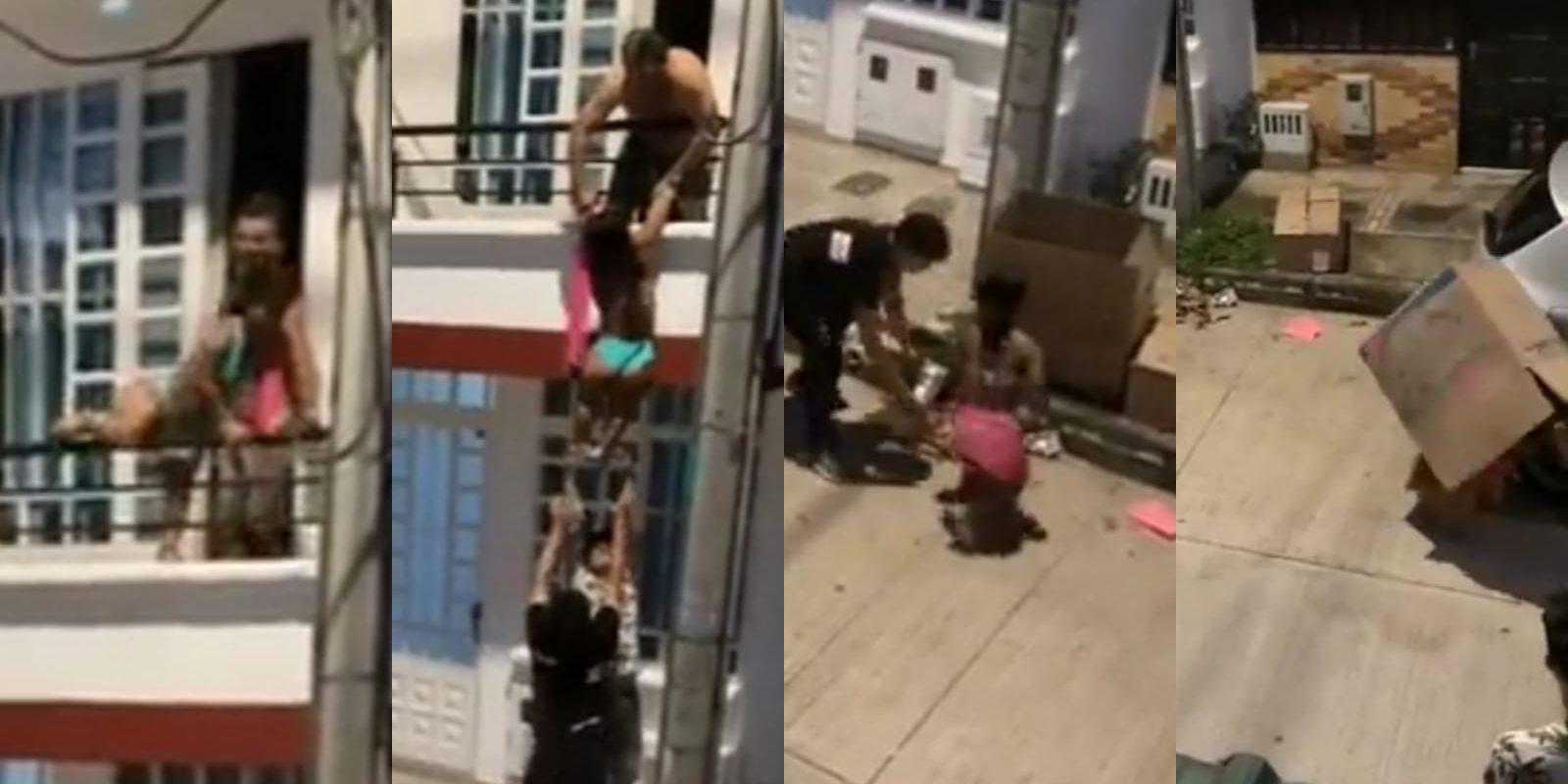 Sacó a su amante por el balcón tras ser descubierto por su esposa: Mujer se escondió en una caja