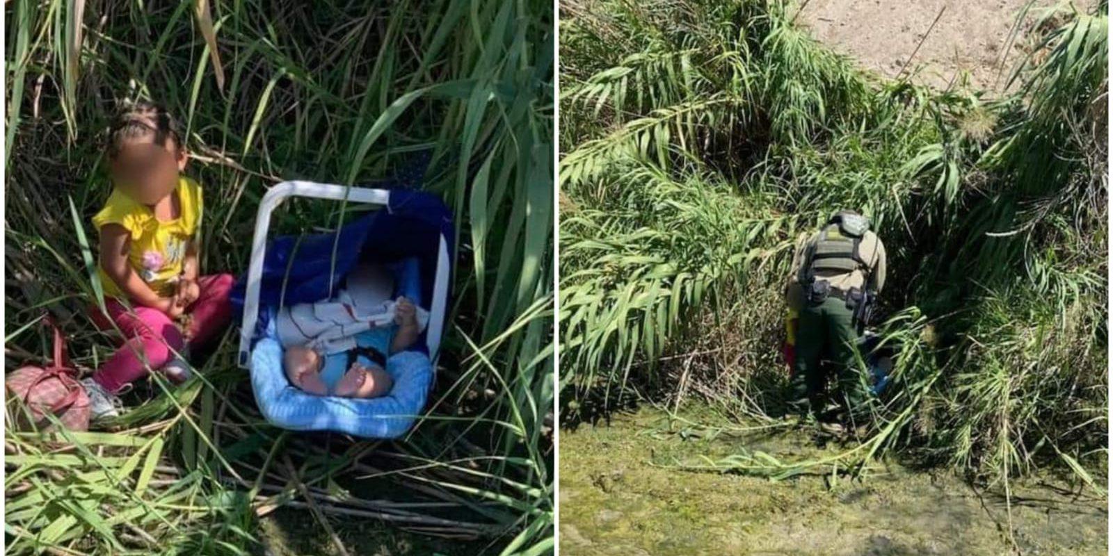 Dos bebitos fueron abandonados en la orilla del Río Bravo: Policías los encontraron