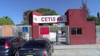 Maestro del CETIS 46 exigen el regreso seguro a clases; trabajando bajo protesta.